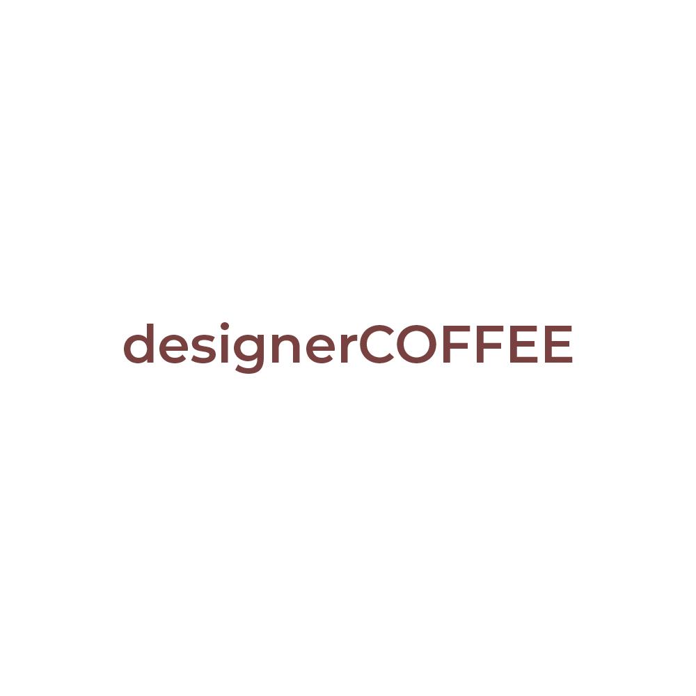 designer coffee square logo